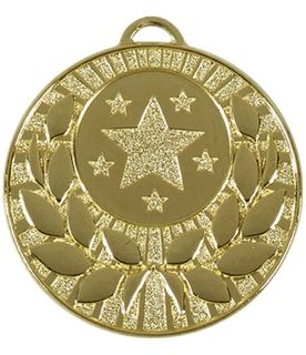 "Gold Laurel Wreath Star Medal 50mm (2"")"