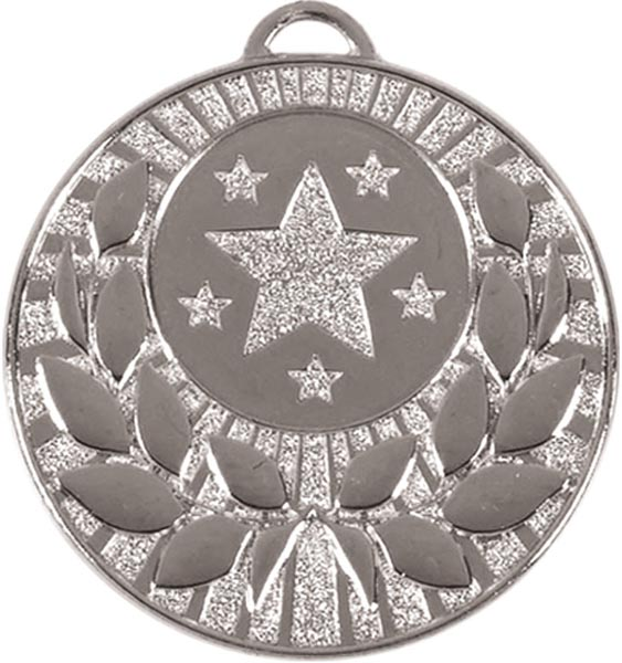 "Silver Laurel Wreath Star Medal 50mm (2"")"