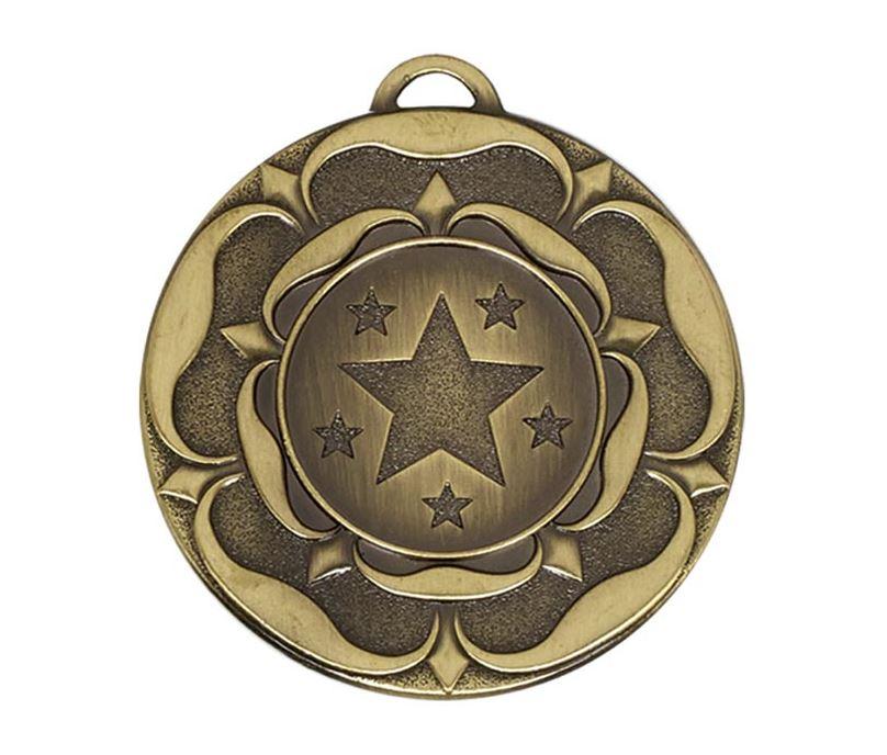 "Bronze Star Tudor Rose Medal 50mm (2"")"