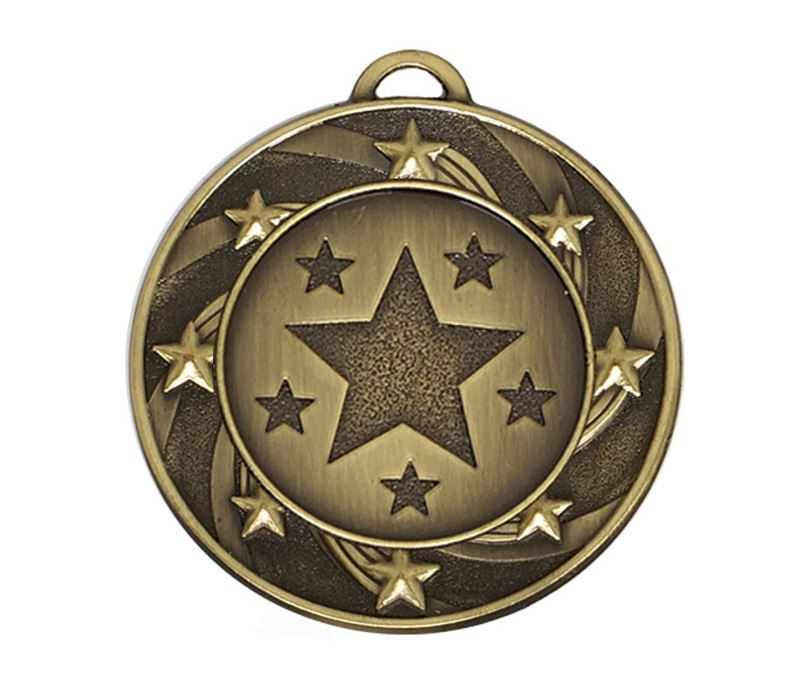 "Bronze Spiral Star Medal 40mm (1.5"")"