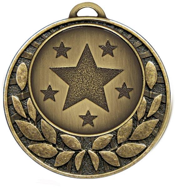 "Bronze Laurel Wreath Star Medal 4cm (1.5"")"