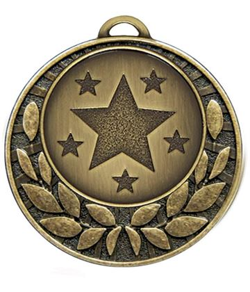 "Bronze Laurel Wreath Star Medal 40mm (1.5"")"