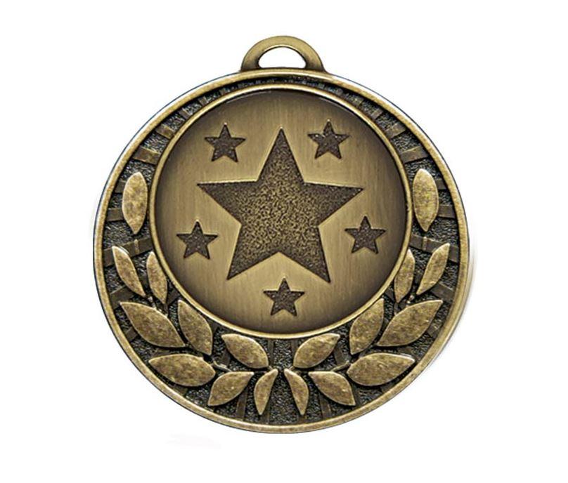 "Bronze Laurel Wreath Star Medal 40mm (1.5"")"