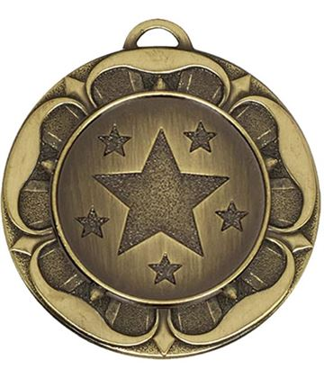 "Bronze Star Tudor Rose Medal 40mm (1.5"")"