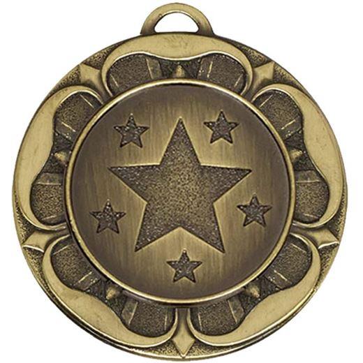 "Bronze Star Tudor Rose Medal 40mm (1.5"")"