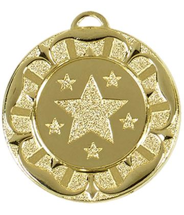 "Gold Star Tudor Rose Medal 40mm (1.5"")"