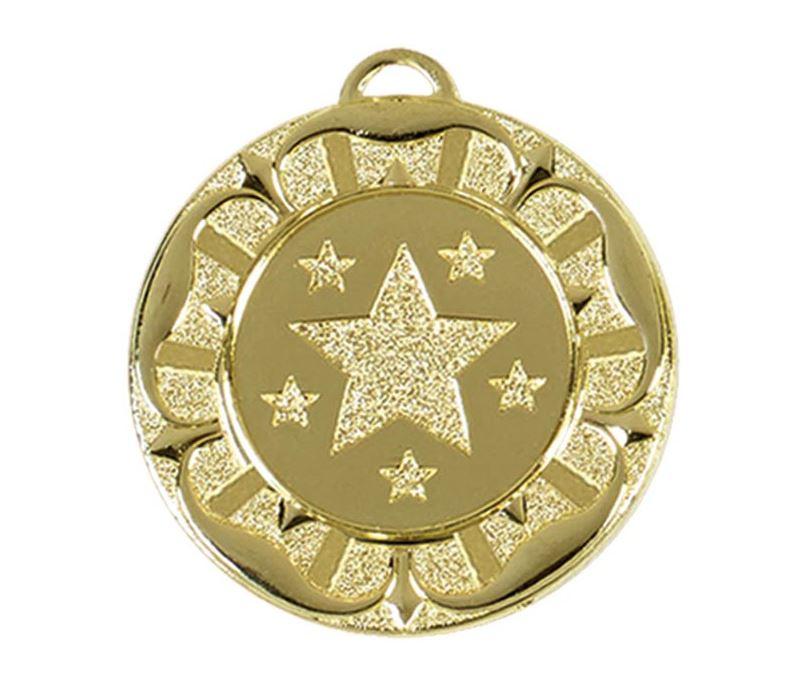 "Gold Star Tudor Rose Medal 40mm (1.5"")"