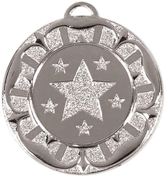 """Silver Star Tudor Rose Medal 40mm (1.5"""")"""