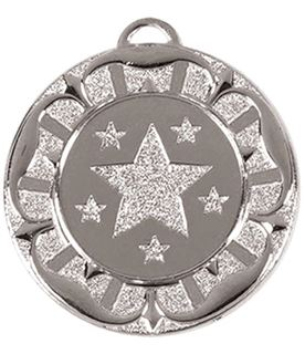 "Silver Star Tudor Rose Medal 40mm (1.5"")"