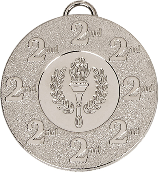"2nd Place Silver Medal with Red, White & Blue Ribbon 5cm (2"")"