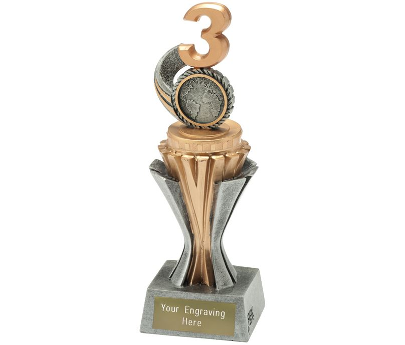 """Flexx 3rd Place Trophy Silver and Gold 19cm (7.5"""")"""