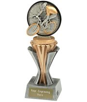 "Flexx Cycling Trophy Silver and Gold 19cm (7.5"")"