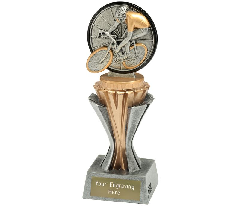 """Flexx Cycling Trophy Silver and Gold 19cm (7.5"""")"""