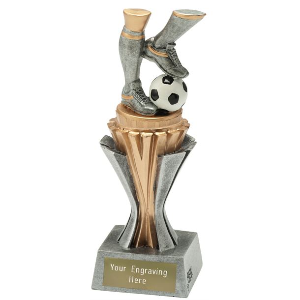 """Flexx Action Football Trophy Silver and Gold 19cm (7.5"""")"""