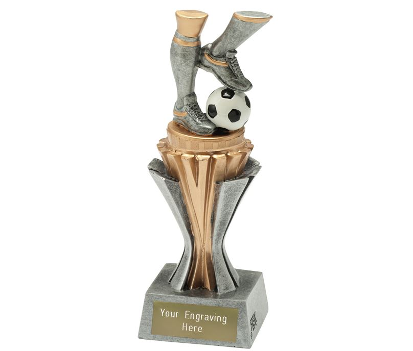 "Flexx Action Football Trophy Silver and Gold 19cm (7.5"")"