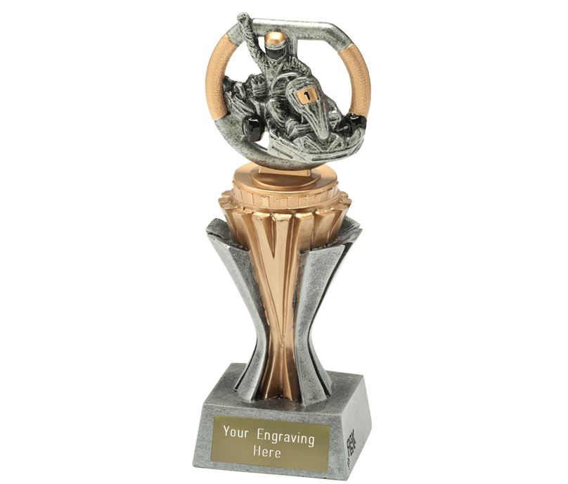 "Flexx Karting Trophy Silver and Gold 19cm (7.5"")"