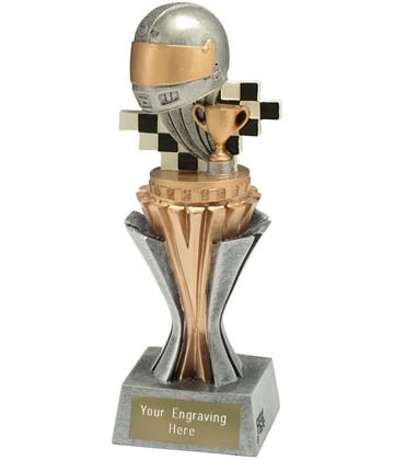 "Flexx Motorsport Trophy Silver and Gold 19cm (7.5"")"