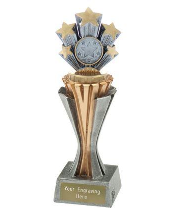 "Flexx 5 Star Trophy Silver and Gold 21.5cm (8.5"")"