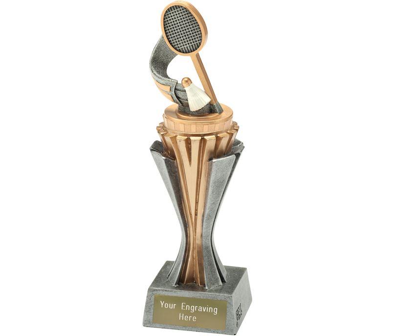 "Flexx Badminton Trophy Silver and Gold 21.5cm (8.5"")"