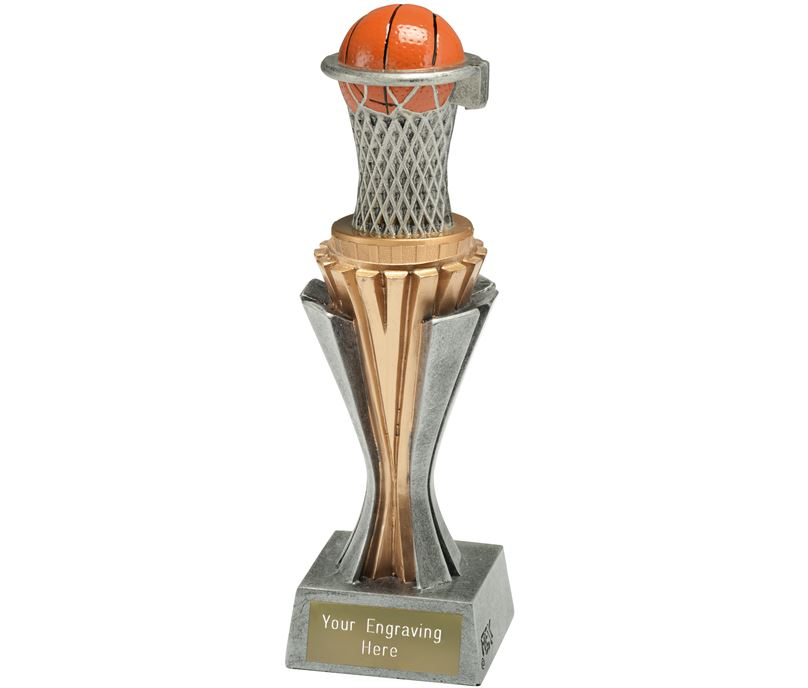 "Flexx Basketball Trophy Silver and Gold 21.5cm (8.5"")"