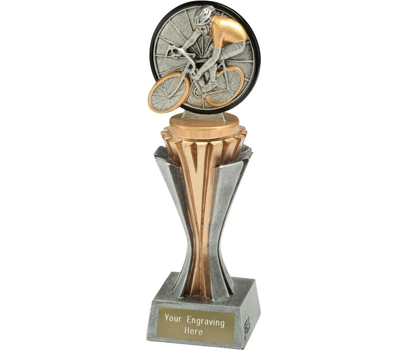 "Flexx Cycling Trophy Silver and Gold 21.5cm (8.5"")"