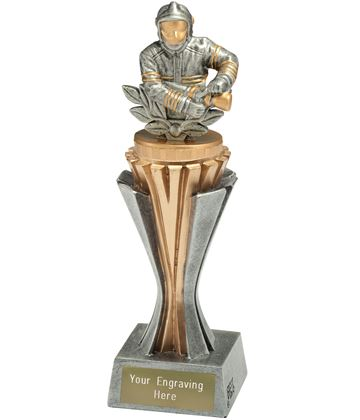 "Flexx Firefighter Trophy Silver and Gold 21.5cm (8.5"")"