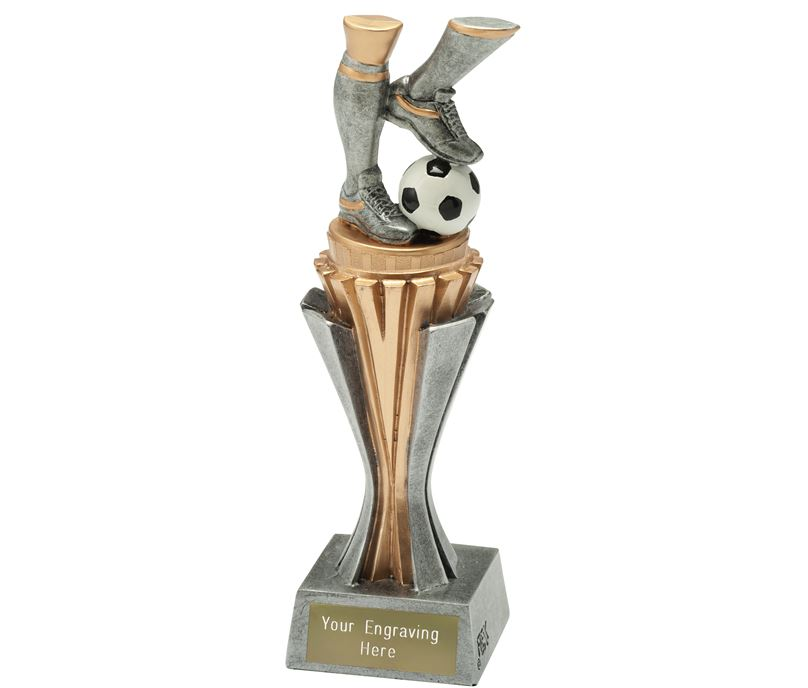"""Flexx Action Football Trophy Silver and Gold 21.5cm (8.5"""")"""