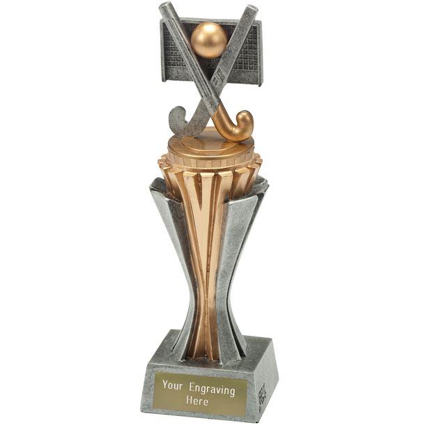 """Flexx Hockey Trophy Silver and Gold 21.5cm (8.5"""")"""