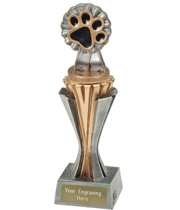 "Flexx Paw Trophy Silver and Gold 21.5cm (8.5"")"