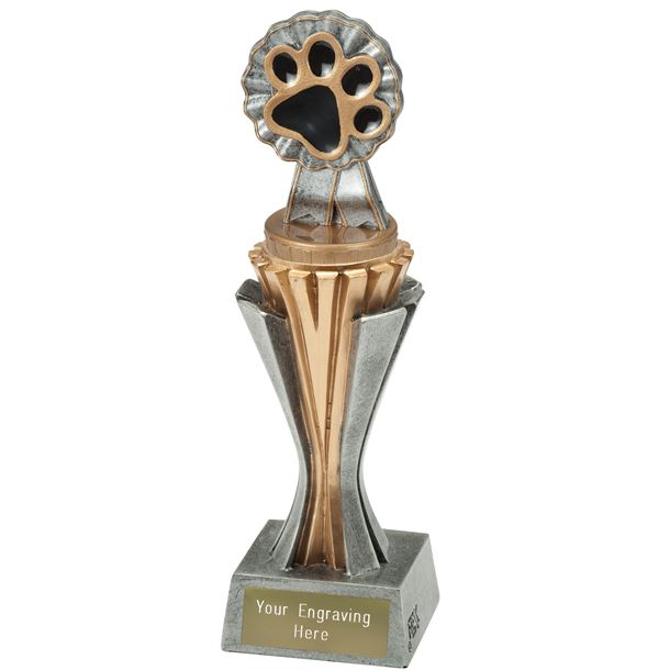 "Flexx Paw Trophy Silver and Gold 21.5cm (8.5"")"