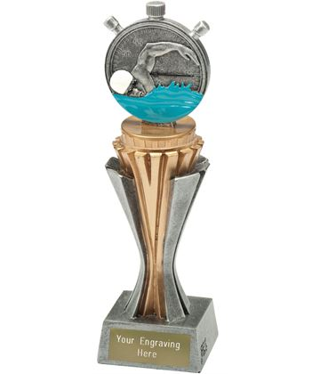 "Flexx Swimming Trophy Silver and Gold 21.5cm (8.5"")"