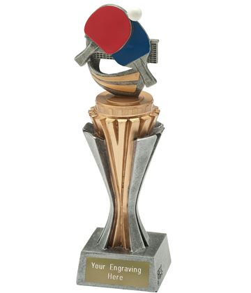 "Flexx Table Tennis Trophy Silver and Gold 21.5cm (8.5"")"