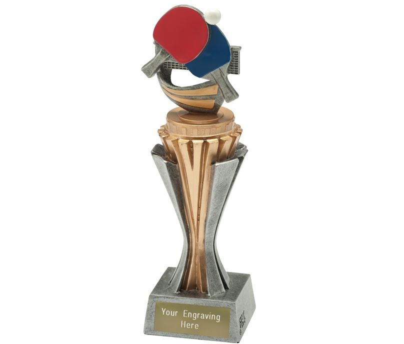 """Flexx Table Tennis Trophy Silver and Gold 21.5cm (8.5"""")"""