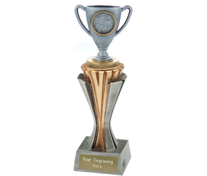 """Flexx Trophy Cup Silver and Gold 21.5cm (8.5"""")"""