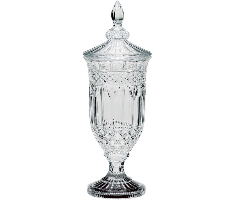"Lindisfarne St George Crystal Vase & Lid 45cm (17.75"")"