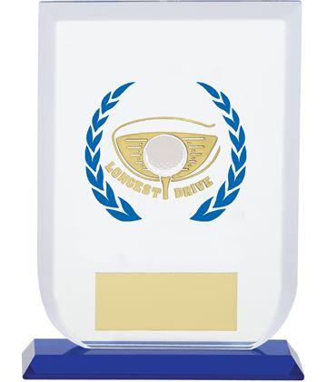 "Longest Drive Gladiator Glass Award 16cm (6.25"")"