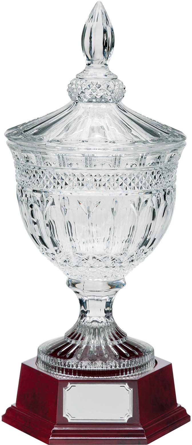 """Lindisfarne St Aiden Cut Crystal Bowl, Lid & Base 44cm (17.5"""")"""