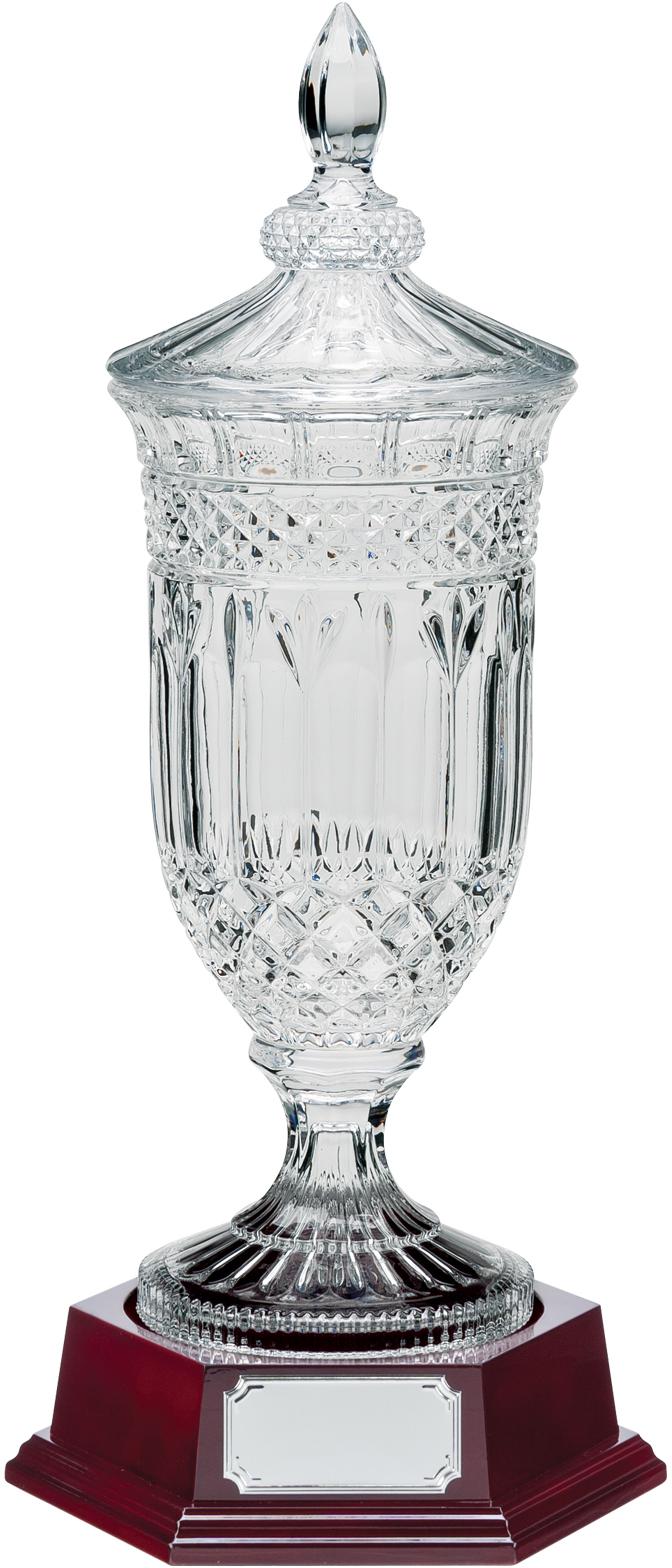 "Lindisfarne St George Crystal Vase, Lid & Base 52cm (20.5"")"