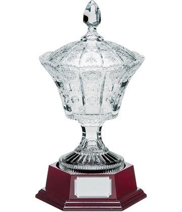 """Lindisfarne St Benedict Crystal Vase, Lid & Base 34.5cm (13.5"""")"""
