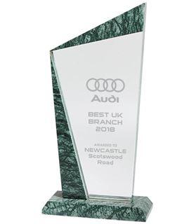 "Crystal & Marble Plaque Award 20cm (8"")"