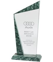 "Crystal & Marble Plaque Award 24cm (9.5"")"