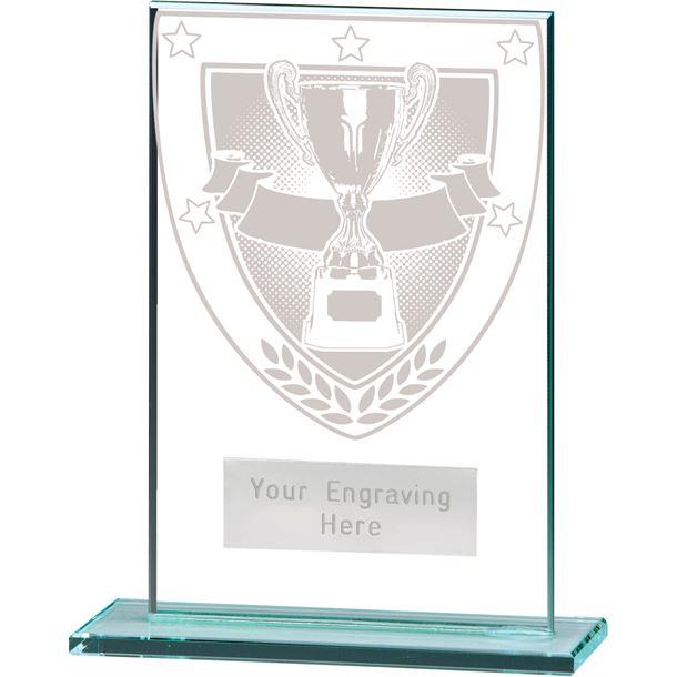 "Millennium Achievement Jade Glass Award 12.5cm (5"")"