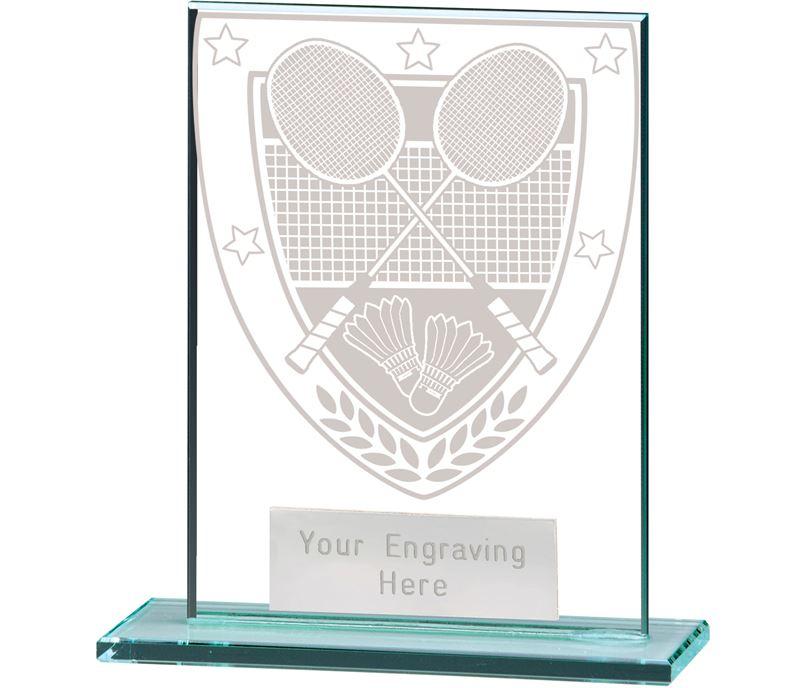 "Millennium Badminton Jade Glass Award 11cm (4.75"")"