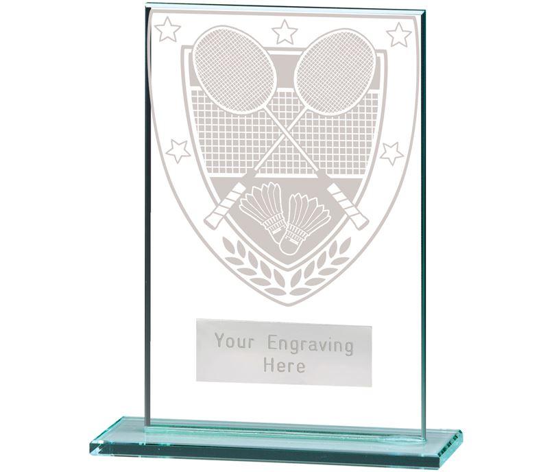 "Millennium Badminton Jade Glass Award 12.5cm (5"")"