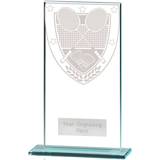 "Millennium Badminton Jade Glass Award 16cm (6.25"")"