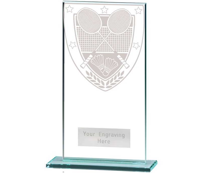 "Millennium Badminton Jade Glass Award 16cm (6.25"")"