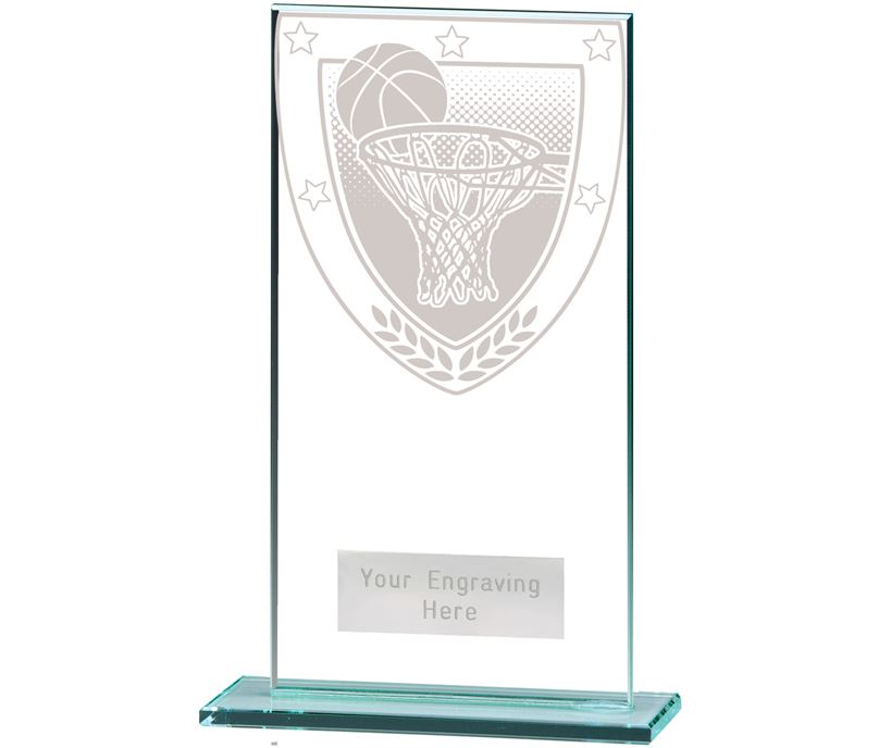 "Millennium Basketball Jade Glass Award 16cm (6.25"")"