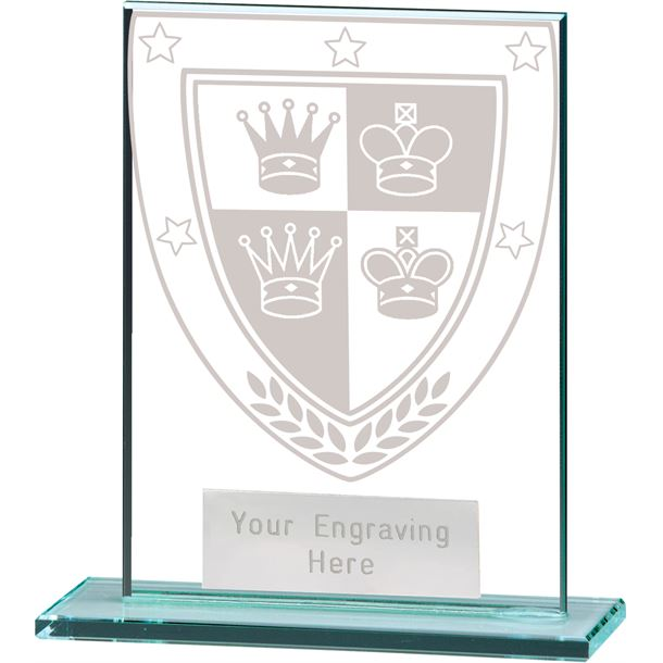 "Millennium Chess Jade Glass Award 11cm (4.75"")"