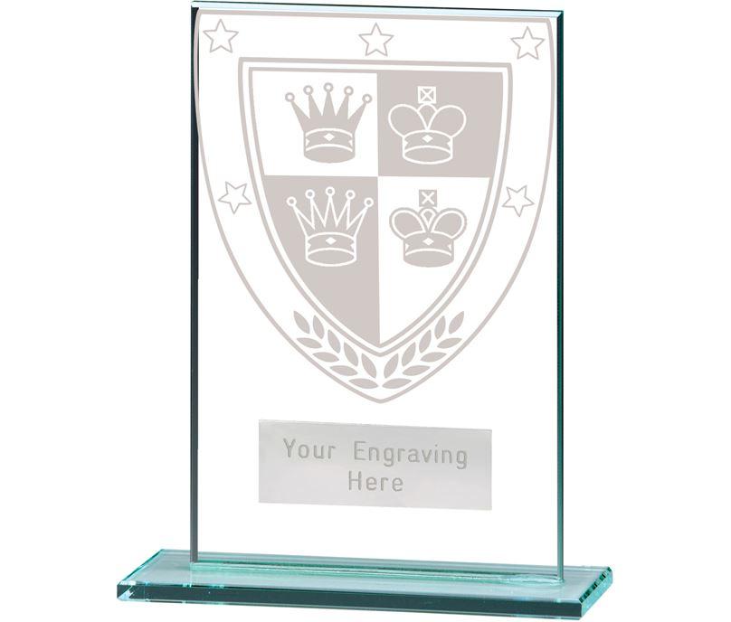 """Millennium Chess Jade Glass Award 12.5cm (5"""")"""