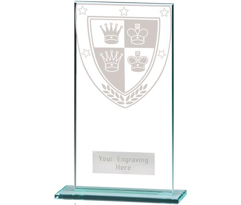 """Millennium Chess Jade Glass Award 16cm (6.25"""")"""